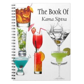 Receta, libro del cuaderno del cóctel de Siptra de