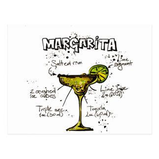 Receta Margarita del cóctel Tarjetas Postales