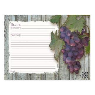 Receta para compartir las uvas nupciales del tarjeta postal