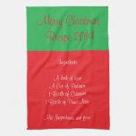 Receta para Felices Navidad 2014 II Toallas