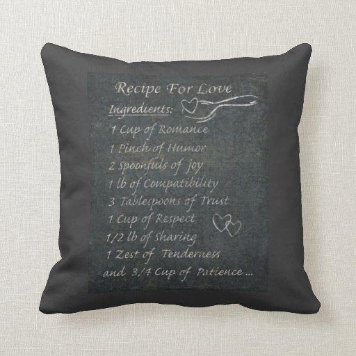 receta para la almohada del amor