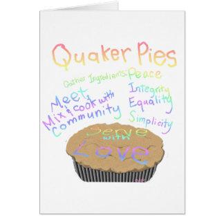 Receta para las empanadas del Quaker Tarjeta De Felicitación