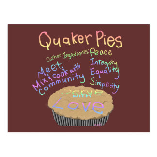 Receta para las empanadas del Quaker Tarjeta Postal