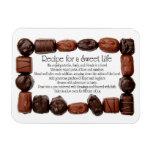 Receta para un marco dulce del caramelo de la vida imanes flexibles