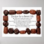 Receta para un marco dulce del caramelo de la vida posters