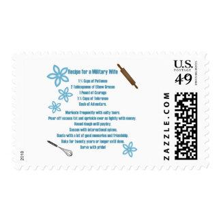 Receta para una esposa militar timbres postales