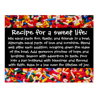 Receta para una postal dulce de la vida