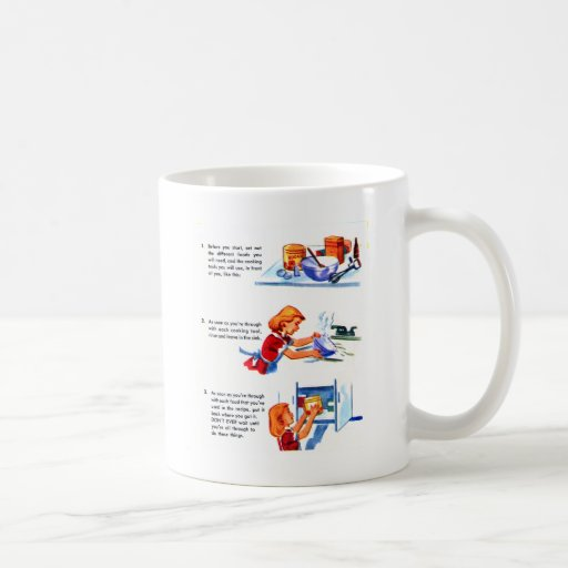 Receta retra de los niños del kitsch 50s del taza