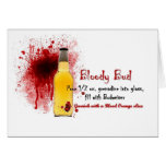 Receta sangrienta de la bebida del brote tarjeta de felicitación