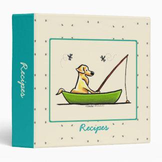 """Recetas amarillas de las libélulas de la pesca del carpeta 1 1/2"""""""
