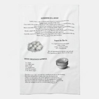 Recetas con los ejemplos del lápiz; Harina de aven Toalla De Cocina