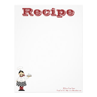 Recetas de papel del cocinero de la cocina de la r plantillas de membrete