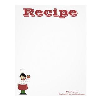 Recetas de papel del cocinero de la cocina de la r membrete