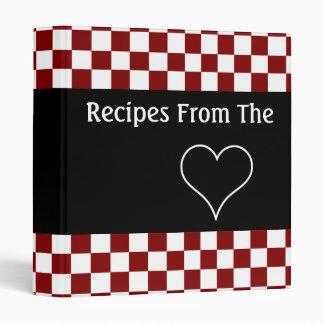 Recetas del libro de cocina del tablero de damas d