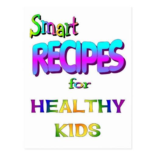 Recetas elegantes para los niños sanos tarjeta postal