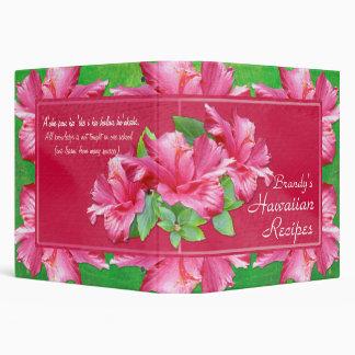"""Recetas hawaianas 1,5"""" hibisco rosado de la carpeta 1 1/2"""""""