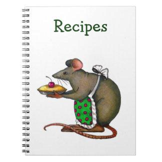 Recetas: Mamá Rat Holding A Pie con la cereza Libretas