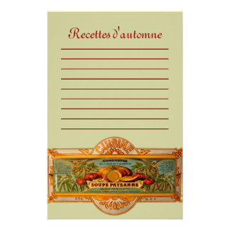 Recettes d'Automne Stationery