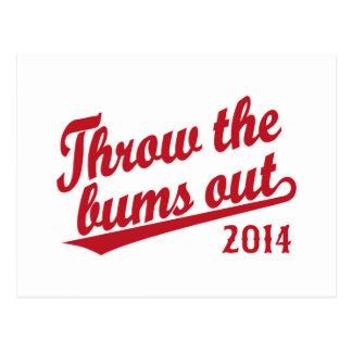 Rechace el rojo 2014 de los vagos tarjetas postales