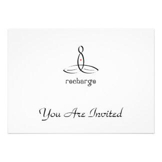 Recharge - Black Fancy style Invites