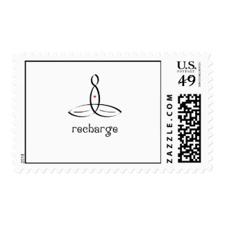 Recharge - Black Fancy style Postage Stamps