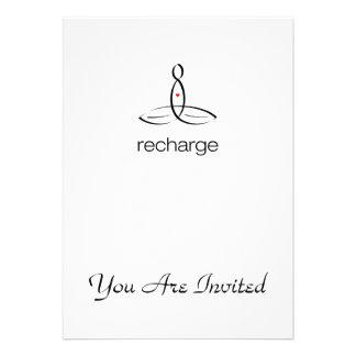 Recharge - Black Regular style Invites