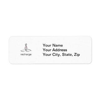 Recharge - Black Regular style Return Address Labels