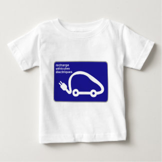 Recharge Stn Electric Cars, Traffic Sign, France Baby T-Shirt