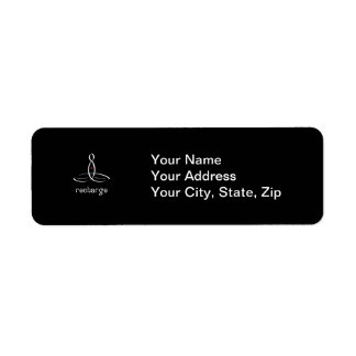 Recharge - White Fancy style Return Address Labels