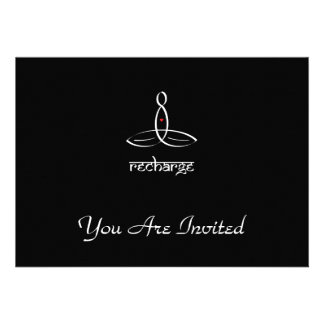 Recharge - White Sanskrit style Personalized Invitations