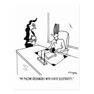 Recharger Cartoon 9506 Postcard