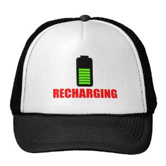 Recharging Battery Cap Trucker Hat