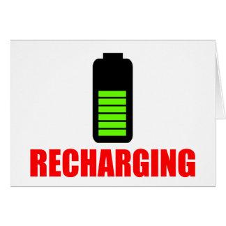 Recharging Battery Greeting Card