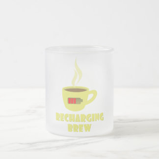 Recharging Brew Frosted Glass Coffee Mug
