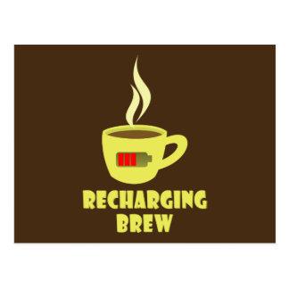 Recharging Brew Postcard