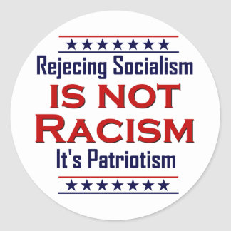 Rechazando socialismo, etiquetas redondas