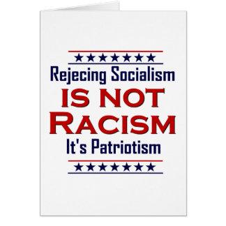 Rechazando socialismo, tarjeta de felicitación