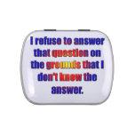 Rechazo contestar a esa pregunta