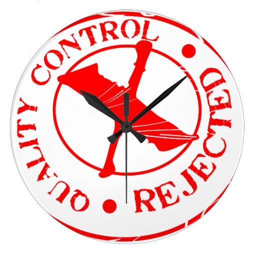 Rechazo del control de calidad relojes