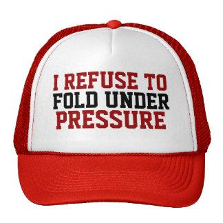 Rechazo doblar debajo del sombrero de las gorra
