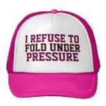 Rechazo doblar debajo del sombrero rosado de las m gorras