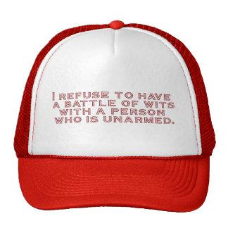 Rechazo tener una batalla de ingenios gorra