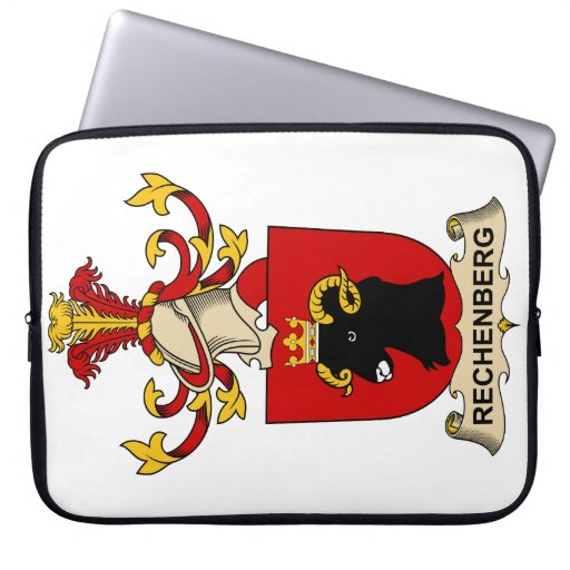 Rechenberg Family Crest Laptop Computer Sleeves