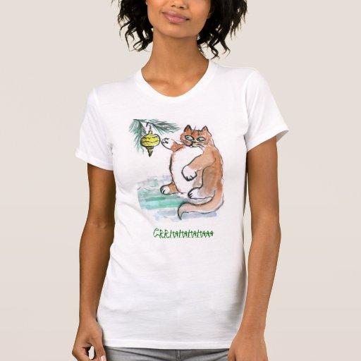 Rechoncho, el gatito, golpea ligeramente un orname camiseta