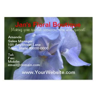 Rechoncho floral azul bonito del laurel de montaña tarjetas de visita grandes