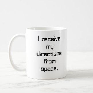 Recibo mis direcciones de espacio…. taza clásica