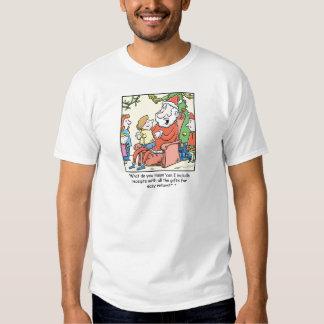 Recibos de Papá Noel del dibujo animado del Playera