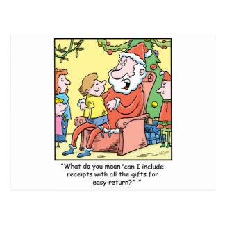 Recibos de Papá Noel del dibujo animado del Tarjetas Postales