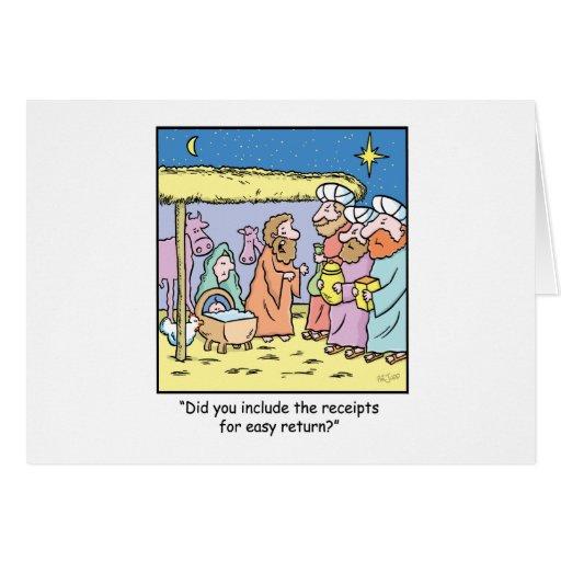 Recibos de regalo del dibujo animado del navidad tarjeta de felicitación
