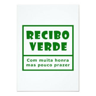 Recibos Verdes 5x7 Paper Invitation Card